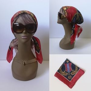 Vintage Bill Blass 100% silk unicorn scarf